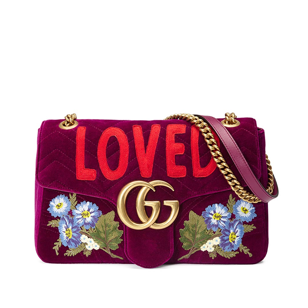 a926b0df3 Gucci GG Marmont Loved Velvet – ID Brand Concept Store